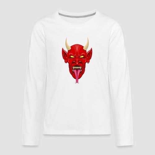 Devils Face Satans Army - Teenagers' Premium Longsleeve Shirt