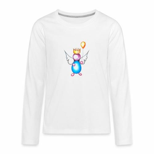 Mettalic Angel geluk - Teenager Premium shirt met lange mouwen