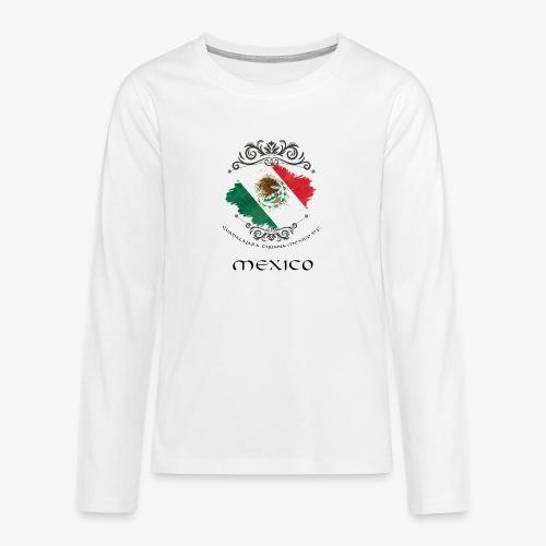 Mexico Vintage Bandera - Teenager Premium Langarmshirt