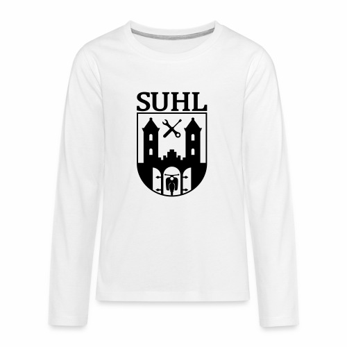 Simson Suhl coat of arms with text - Teenagers' Premium Longsleeve Shirt