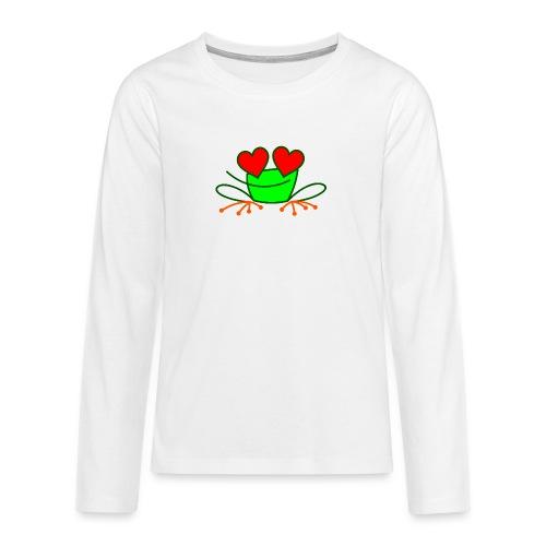 Frog in Love - Teenagers' Premium Longsleeve Shirt