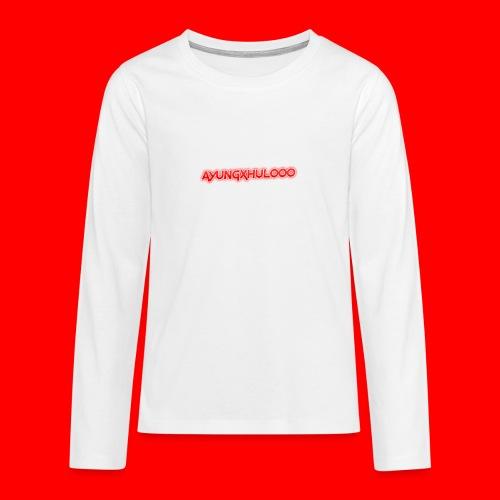 AYungXhulooo - Neon Redd - Teenagers' Premium Longsleeve Shirt