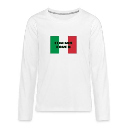 ITALIAN LOVER - Maglietta Premium a manica lunga per teenager