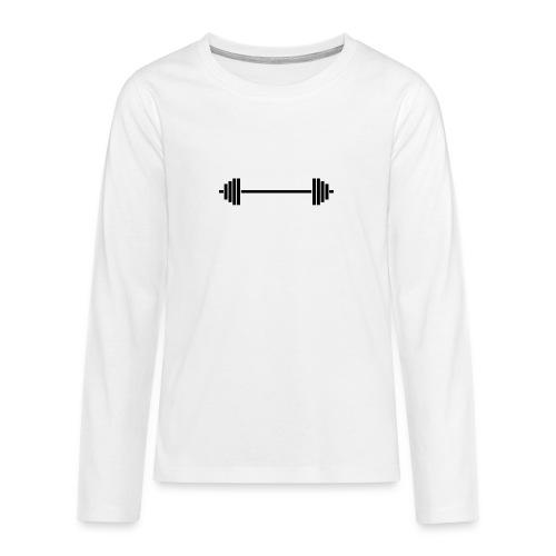 barbell - Teenager Premium Langarmshirt