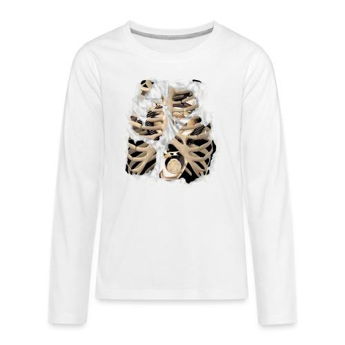 V-Twin skeleton blanco - Camiseta de manga larga premium adolescente