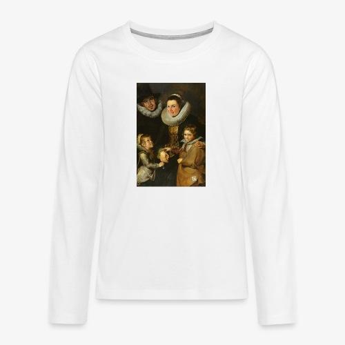 familie-engels2-canvas - Teenager Premium shirt met lange mouwen