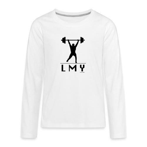 170106 LMY t shirt vorne png - Teenager Premium Langarmshirt