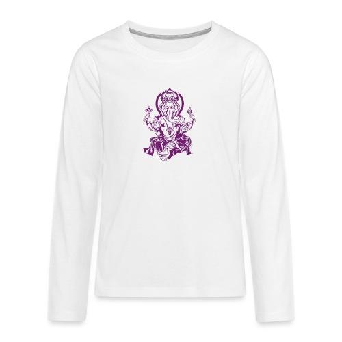 Ganesha Glücksgott - Teenager Premium Langarmshirt