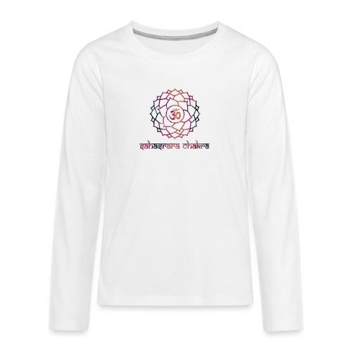 Sahasrara Kronenchakra Bunt Yoga Chakra Motiv - Teenager Premium Langarmshirt