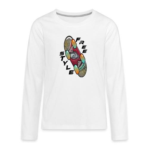Skateboard Freestyle 2 - Teenager Premium Langarmshirt