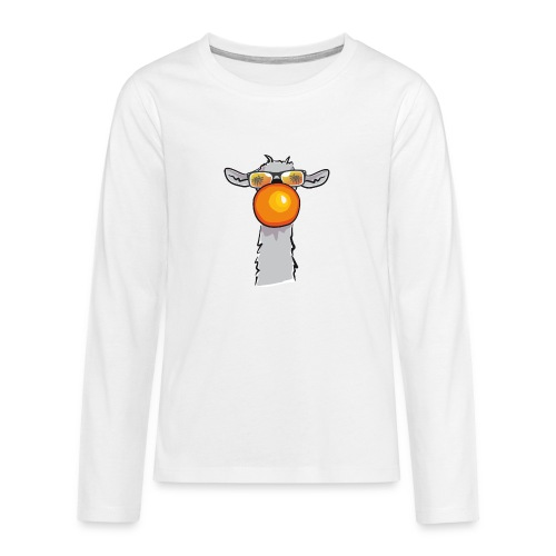 Chewing Llama - Teenager Premium Langarmshirt