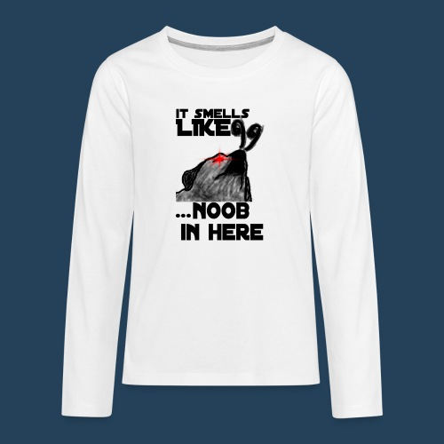 It smells like NOOB in here! - Teenager Premium Langarmshirt