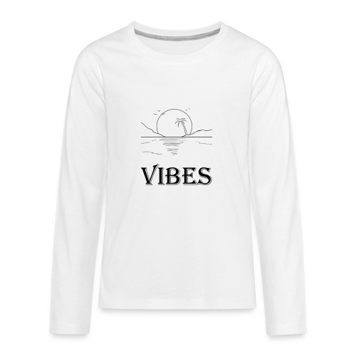 Vibes - Teenager premium T-shirt med lange ærmer