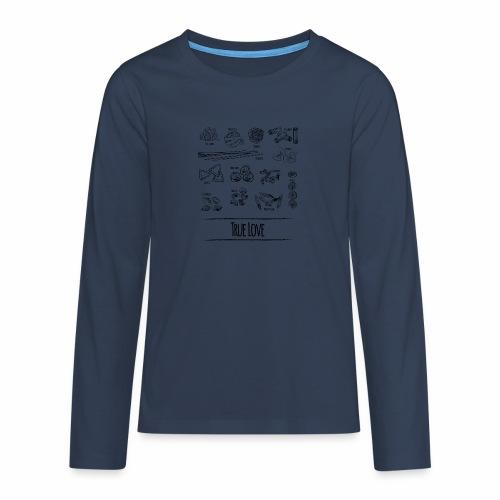Pasta - My True Love - Teenager Premium Langarmshirt