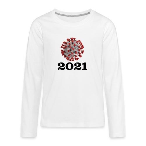 Virus 2021 - Teenager Premium Langarmshirt