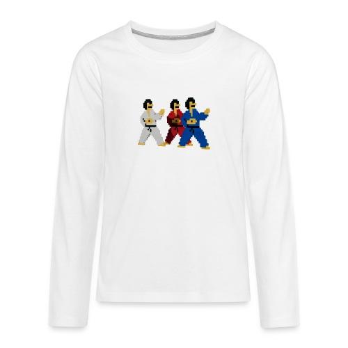 8 bit trip ninjas 1 - Teenagers' Premium Longsleeve Shirt
