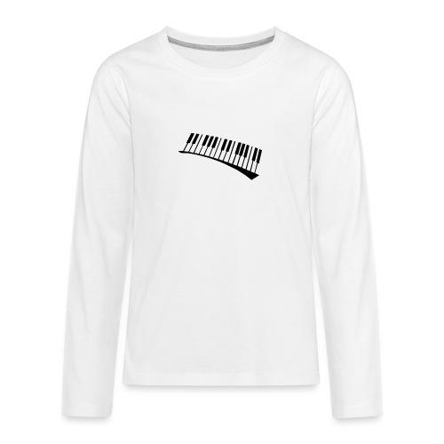 Piano - Camiseta de manga larga premium adolescente