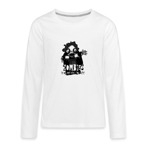 zombies - the only meat eaters i truly respect sv - Långärmad premium T-shirt tonåring