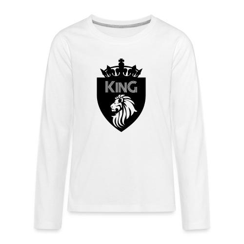 king - T-shirt manches longues Premium Ado