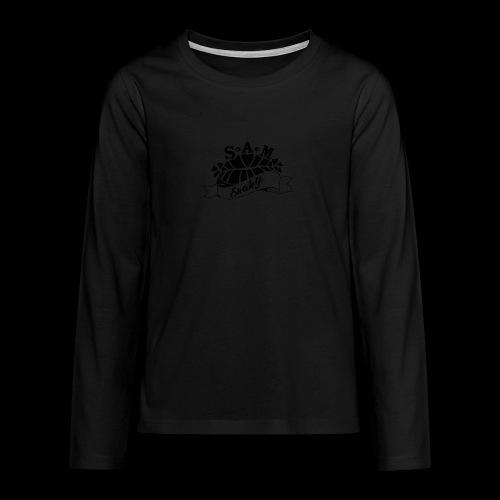 SamShaky - Teinien premium pitkähihainen t-paita