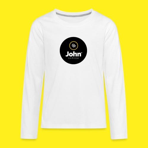 logo john - Camiseta de manga larga premium adolescente