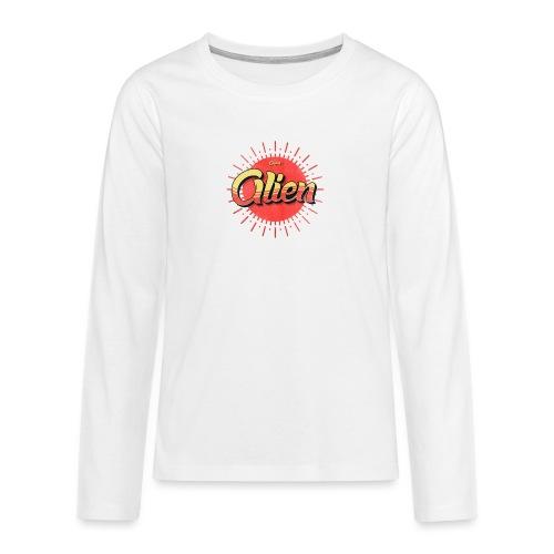 Alien Vintage Logo - Premium langermet T-skjorte for tenåringer