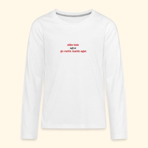 Good bye and thank you - Teenagers' Premium Longsleeve Shirt