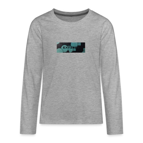 Extinct box logo - Teenagers' Premium Longsleeve Shirt