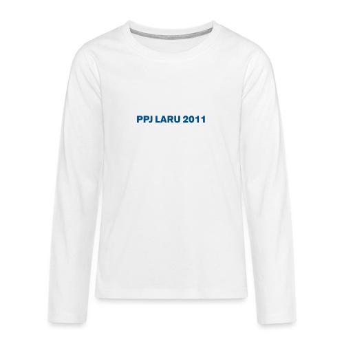 Teksti ilman seuran logoa - Teinien premium pitkähihainen t-paita
