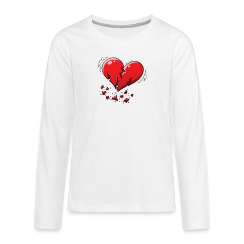 Heartquake - Teenagers' Premium Longsleeve Shirt