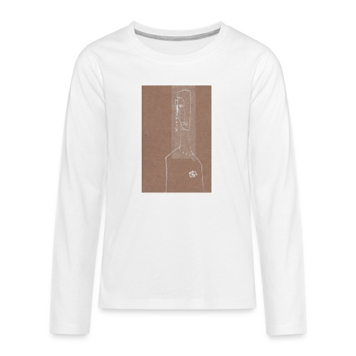Face_Phone - Långärmad premium T-shirt tonåring