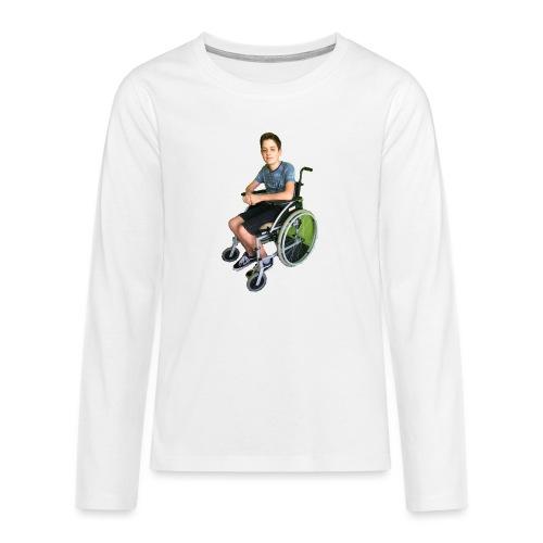 Michael Brown Rollstuhl (Version ein) - Teenager Premium Langarmshirt