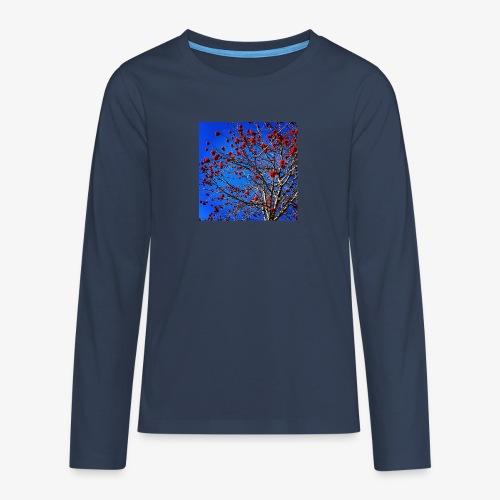 Red Flowers and Blue Sky - Maglietta Premium a manica lunga per teenager