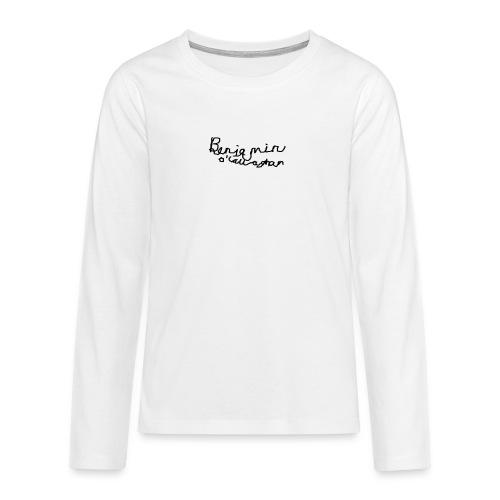 Benjamin O'Callaghan Vlogs - Teenagers' Premium Longsleeve Shirt