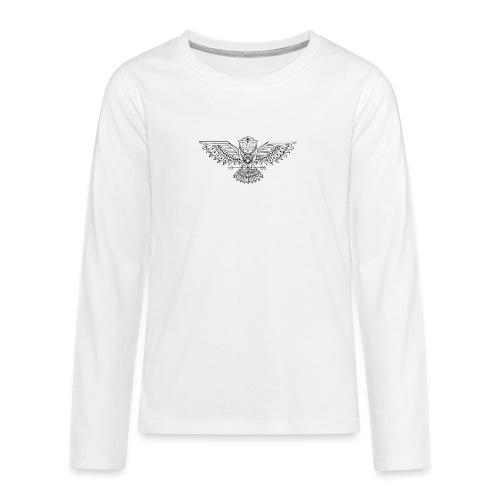 Grafische uil - Teenager Premium shirt met lange mouwen
