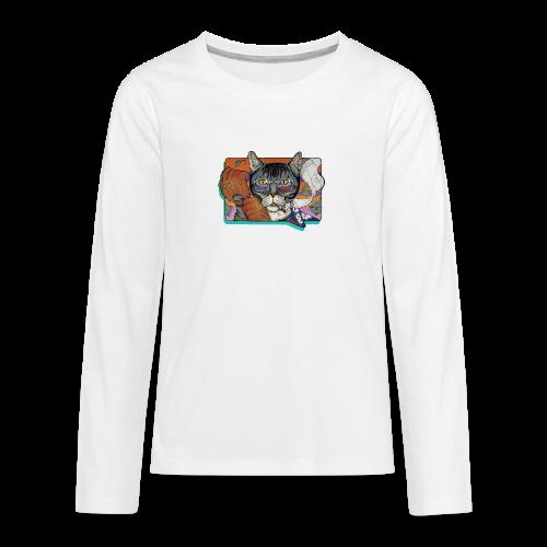 Crime Cat - Koszulka Premium z długim rękawem dla nastolatków