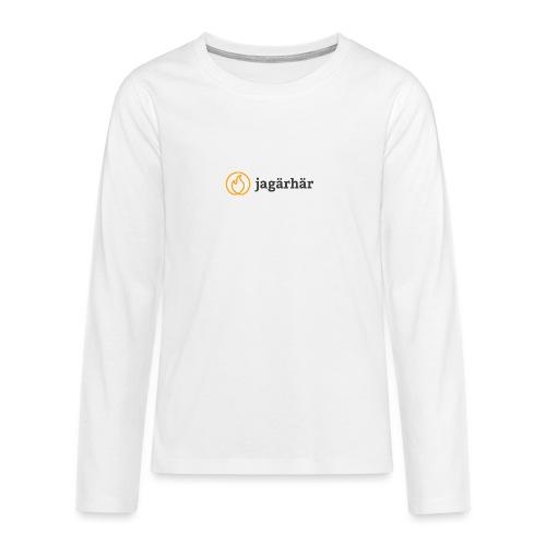 #jagärhär - Långärmad premium T-shirt tonåring