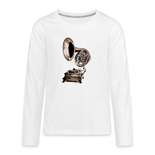 Grammo-Horn - Teenager Premium Langarmshirt