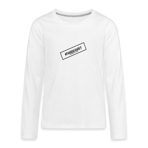 #PandaFamily [Balken] - Teenager Premium Langarmshirt