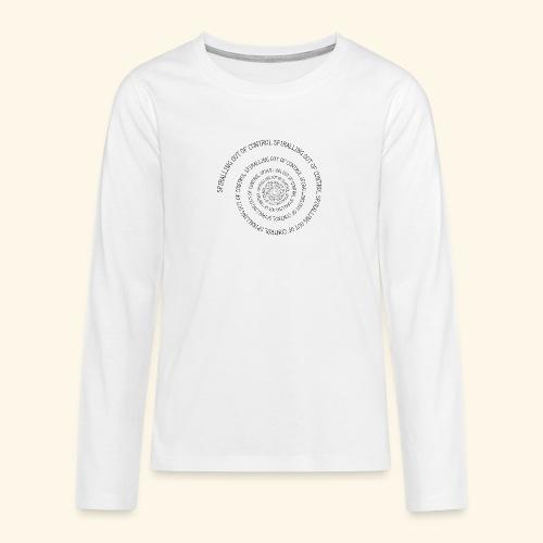 SPIRAL TEXT LOGO BLACK IMPRINT - Teenagers' Premium Longsleeve Shirt