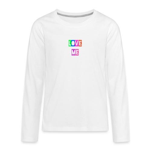 LoveMe - Camiseta de manga larga premium adolescente