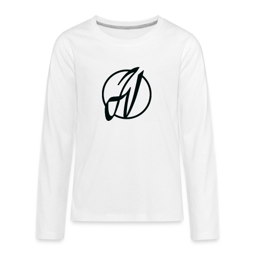 JV Guitars - logo noir - T-shirt manches longues Premium Ado