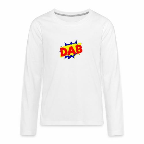 Dab fumetto logo - Maglietta Premium a manica lunga per teenager