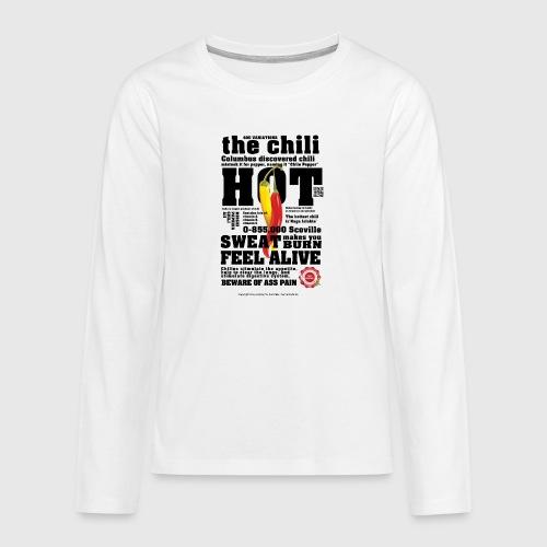 chili - Teenager premium T-shirt med lange ærmer