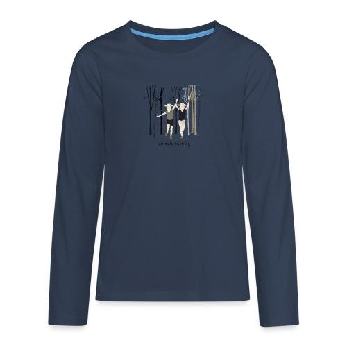 Moutons running - T-shirt manches longues Premium Ado