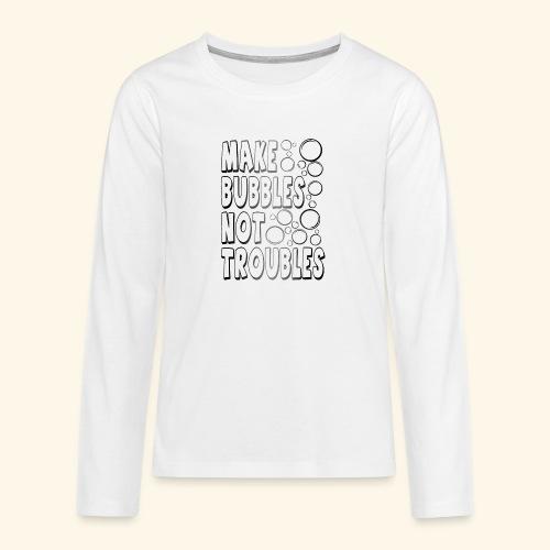 Bubbles002 - Teenager Premium shirt met lange mouwen