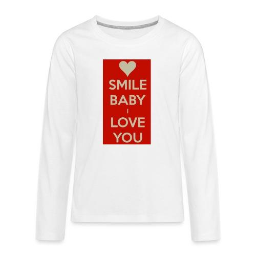 13EA371C 7A76 4027 BF26 429EE3809D0D - Långärmad premium T-shirt tonåring