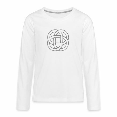 SIMBOLO CELTA SIN FONDO 1 - Camiseta de manga larga premium adolescente