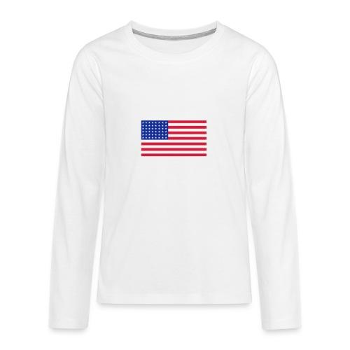 AVM 48 star flag in 3 color RGB VECTOR - Teenager Premium shirt met lange mouwen