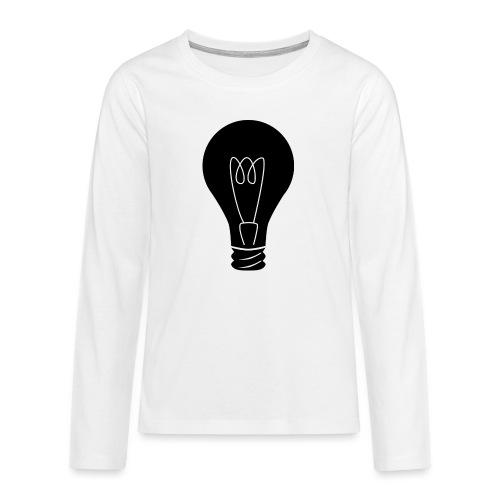 Glühbirne - Teenager Premium Langarmshirt